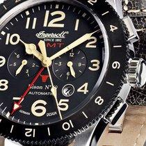 Ingersoll Bison Stahl 46mm Schwarz Deutschland, Simmerath