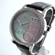 A. Lange & Söhne Little Lange 1 pre-owned 36mm Panorama date Date Leather