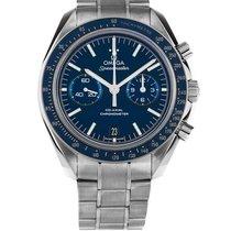 Omega Titane Remontage automatique Bleu Sans chiffres 44.2mm nouveau Speedmaster Professional Moonwatch