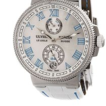 Ulysse Nardin Titanium Automatic White Roman numerals 43mm new Marine Chronometer Manufacture