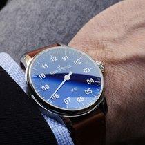 Meistersinger N° 02 Steel 43mm Blue Arabic numerals