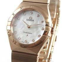 Omega Constellation Or rose 28mm Nacre Sans chiffres