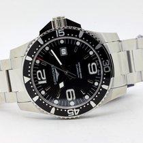 Longines HydroConquest Steel 44mm Black Arabic numerals