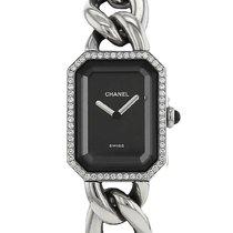 Chanel occasion Quartz 20mm Noir Verre minéral