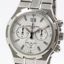Vacheron Constantin Overseas Chronograph Stahl 40mm Silber Keine Ziffern