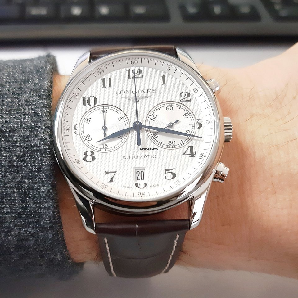 Longines Master Collection L2.629.4.78.3 Longines Master Collection Acciaio Argento Pelle Marrone 40mm 2021 new