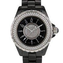 Chanel Acier Quartz Noir 33mm occasion J12