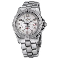 Breitling Colt GMT Steel 40mm Silver Arabic numerals United States of America, New York, Greenvale