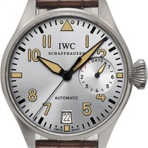 IWC Platinum Automatic Grey 46mm pre-owned Big Pilot