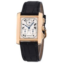 Cartier Tank Française Yellow gold 36mm White Roman numerals United States of America, New York, Greenvale