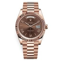 Rolex Red gold Automatic Brown Roman numerals 40mm new Day-Date 40