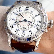 Longines Lindbergh Hour Angle Steel 47,5mm White Roman numerals