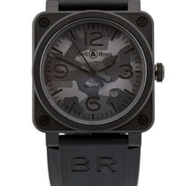 Bell & Ross BR 03-92 Ceramic BR0392-CAMO-CE/SRB Novo Cerâmica 42mm Automático