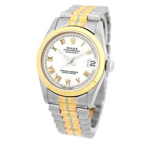 Rolex Datejust 31mm Wit Romeins