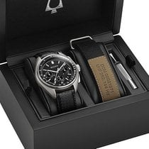 Bulova Lunar Pilot Steel 45mm Black No numerals