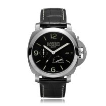 Panerai Luminor 1950 3 Days GMT Power Reserve Automatic Stahl 44mm Schwarz Arabisch