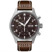 IWC 파일럿 크로노그래프 신규 자동 시계 및 정품 박스와 서류 원본 IW377713
