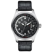 IWC Pilot Worldtimer Steel 45mm Black Arabic numerals