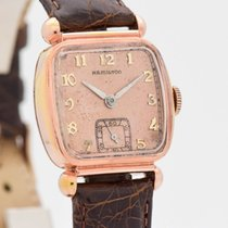 Hamilton Rose gold Manual winding Gold Arabic numerals 29mm pre-owned