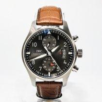 IWC Pilot Spitfire Chronograph Aço 43mm Cinzento Árabes