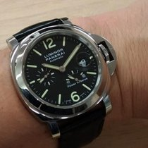 Panerai Luminor Power Reserve PAM01090 Panerai LUMINOR Data Acciaio Nero Pelle 44mm 2020 nouveau