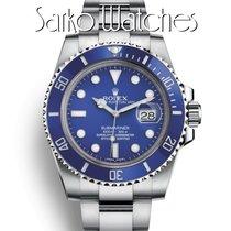 Rolex Submariner Date Weißgold 40mm Blau Keine Ziffern