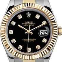 Rolex Acier Remontage automatique Noir 41mm occasion Datejust II