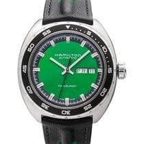 Hamilton Pan Europ Сталь 42mm Зеленый