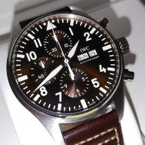 IWC Fliegeruhr Chronograph Stahl 43mm Braun Arabisch Schweiz, Basel