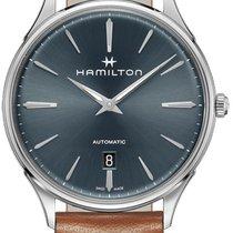 Hamilton Jazzmaster Thinline 40mm Bleu