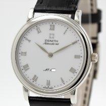 Zenith Elite Ultra Thin Platin 35mm Weiß Römisch