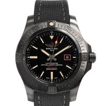 Breitling Titanium Automatic Black 44mm new Avenger Blackbird 44
