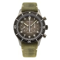 Zenith Steel Automatic Grey 43mm new Pilot Type 20