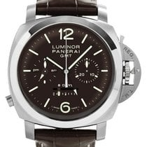Panerai Luminor 1950 8 Days Chrono Monopulsante GMT Titanium 44mm Brown