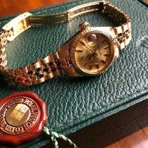 Rolex Geelgoud Automatisch Champagne Geen cijfers 26mm tweedehands Oyster Perpetual Lady Date