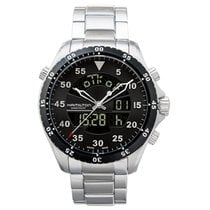 Hamilton Khaki Flight Timer Steel 40mm Black