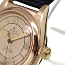 Rolex Rose gold Automatic Gold Arabic numerals 31mm pre-owned Bubble Back