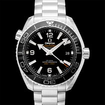Omega Steel Automatic Black 39.5mm new Seamaster Planet Ocean