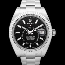 Rolex White gold Automatic Black 42mm new Sky-Dweller