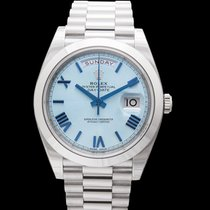 Rolex Platinum Automatic Blue 40.00mm new Day-Date 40