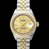 Rolex Yellow gold Automatic Champagne 28.00mm new Lady-Datejust