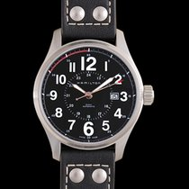 Hamilton Khaki Field Officer Steel 44mm Black United States of America, California, San Mateo