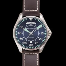 Hamilton Khaki Pilot Day Date Steel 42mm Blue United States of America, California, San Mateo