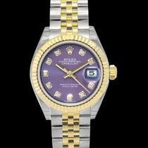 Rolex Lady-Datejust Yellow gold 28mm Purple