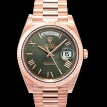 Rolex Day-Date 40 Rose gold 40mm Green United States of America, California, San Mateo