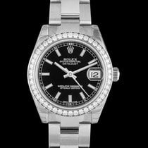 Rolex White gold Automatic Black 31mm new Lady-Datejust