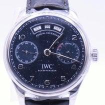IWC Portuguese Annual Calendar Сталь 44.2mm Синий Aрабские
