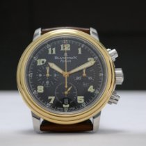 Blancpain Léman Fly-Back 38mm Zwart Arabisch
