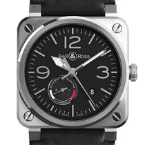 Bell & Ross BR 03-97 Réserve de Marche new Automatic Watch with original box and original papers BR0397-BL-SI/SCA