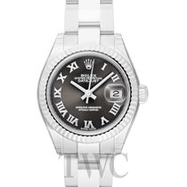 Rolex White gold Automatic Grey 28mm new Lady-Datejust